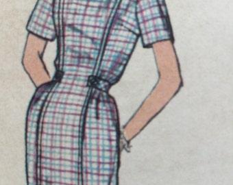 1960s Vintage Simplicity 4089 Misses One Piece Dress with jumper, Vintage Dress Pattern,  Bust 32