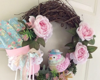 SALE Shabby Garden Wreath