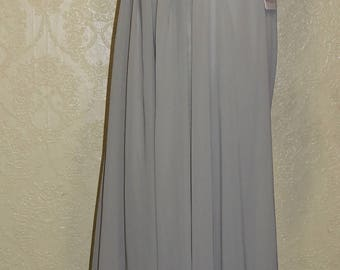 vintage size 12 SILVER COUTURE GOWN Evening Gown with Sequins silver bead trims size 12 mother of the bride dress