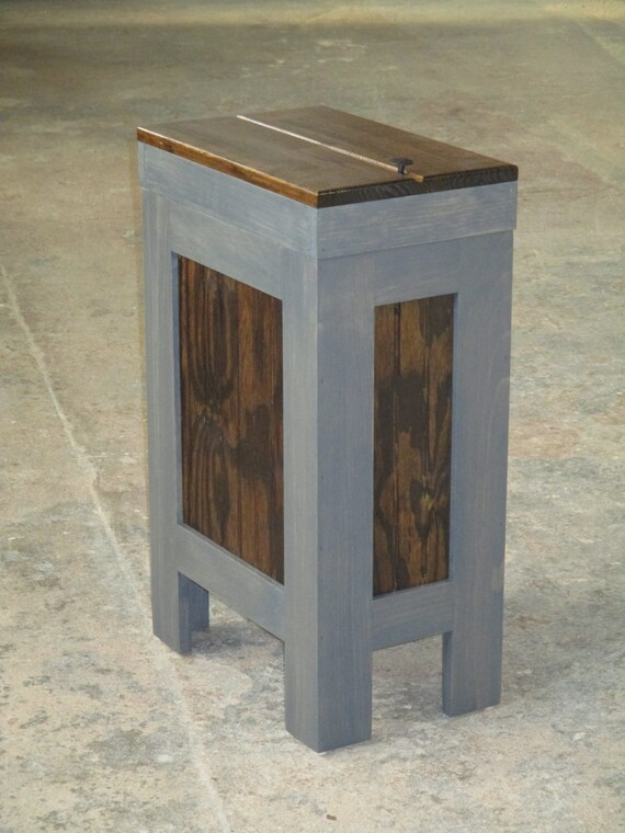 Wood Trash Can Kitchen Garbage Can Wood Trash Bin Recycle