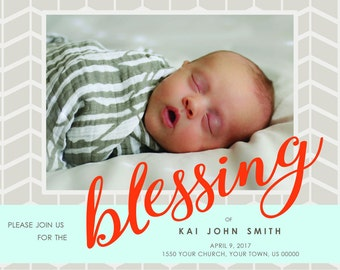 Baby Blessing Invitation