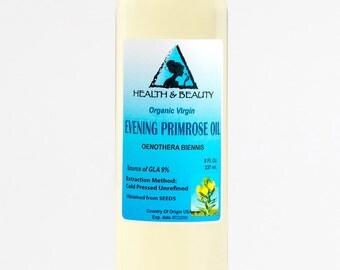 8 oz EVENING PRIMROSE OIL Organic Carrier Cold Pressed Unrefined Virgin Raw Pure