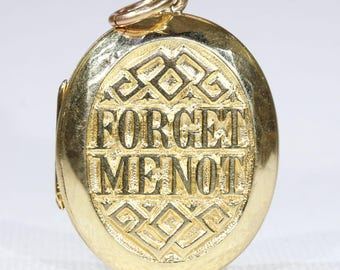 Victorian 'Forget Me Not' Gold Locket Lily of the Valley Flower