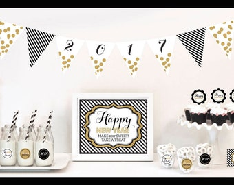 New Years Eve Decorations - New Years Eve Party Decorations - New Years Eve Party Kit - New Years Eve Party Ideas Themes Banner (EB4000NYE)