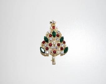 Eisenberg Ice Christmas Tree Pin Brooch