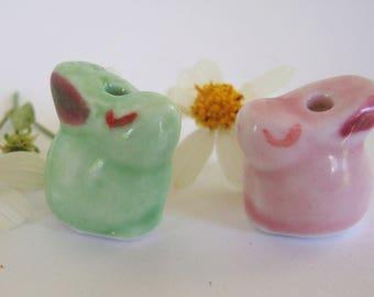 Bunny Ceramic Bead,