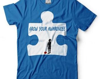 Grow Your Awareness T-Shirt Autism Awareness Tee Shirt Gift For Autistic Shirt
