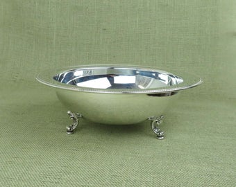 Silverplate Bowl by Oneida, Elegant Silver Plated Serving Bowl, Dinnerware, Wedding Gift, Wedding Table