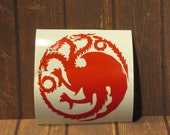 Game of Thrones | Targaryen Dragons House Sigil | Vinyl Decal