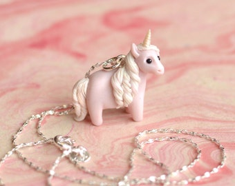 Custom-Made Any-Coloured Unicorn Pendant and Chain