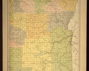 Eastern Oregon Map Oregon Road Map LARGE Wall Art Decor