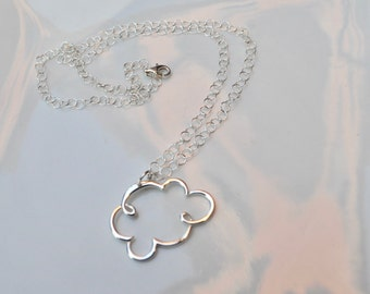 With Your Head in the Clouds....Sterling Silver Cloud Necklace