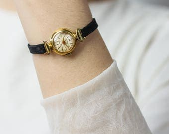 Very rare ladies' watch Mechta (Dream) – mid-century gold plated watch – mechanical retro watch – gift for her 50s