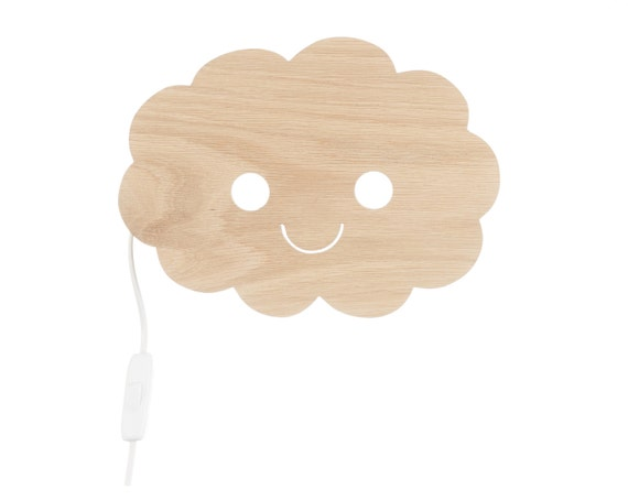 Shower you with love light lamp baby happy cloud babyroom - Wandleuchte baby ...