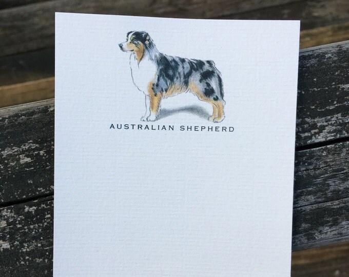 Australian Shepherd Dog Note Card Set