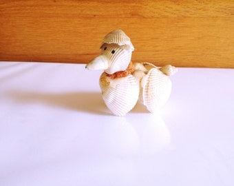Amazing Vintage Sea Shells Dog Figurine. #Seashells #CuteDog