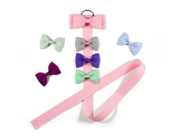 Pink Hair Bow Holder, Bow Holder, Hair Bow Organizer, Clip Holder