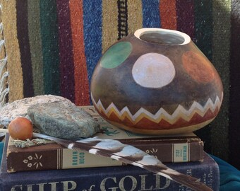 Decorative gourds-Southwest Circles-OOAK