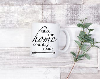 Take Me Home Country Roads mug mothers day gift personalized love western