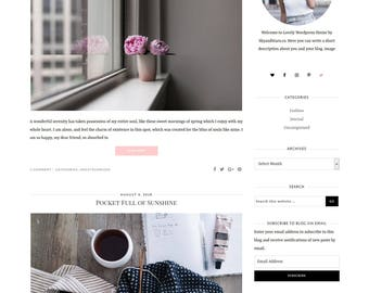 NEW Lovely Wordpress Theme for Genesis Framework - Wordpress Template