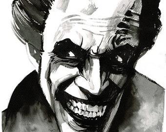 The Man Who Laughs (Conrad Veidt) portrait original ink drawing