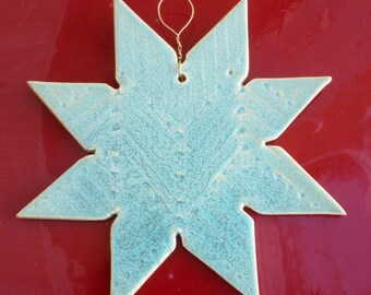 Snowflake in speckled teel