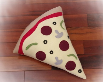 Pizza Pillow, Pizza Slice Pillow, Food Pillow, Toy Pillow, 3D Pillow