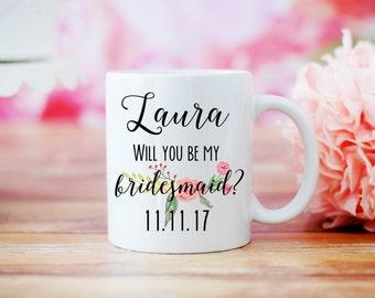 Will You Be My Bridesmaid Mug, Maid of Honor Proposal, Wedding Party Favors, Bridesmaid Gift, Bridesmaid Proposal, Bridal Party Favors, Mug