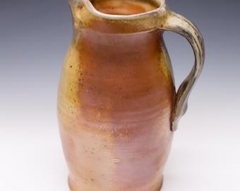 Wood Fired Porcelain Blend Pitcher - Shino Liner Glaze, 0514002