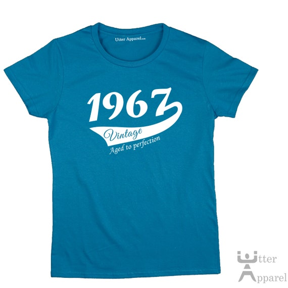50th Birthday Gift For Woman, 1967 Vintage crew neck T-shirt,  S-2XL various colours