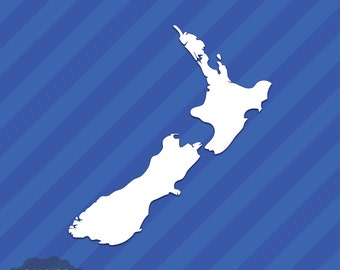New Zealand State Outline Vinyl Decal Sticker
