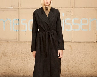 SALE,Black Coat, Black Long Coat, Women Black Maxi Coat,High Collar Black  Jacket
