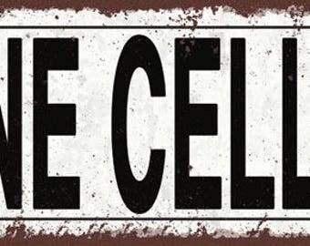 Wine Cellar Metal Street Sign, Rustic, Vintage    TFD2064