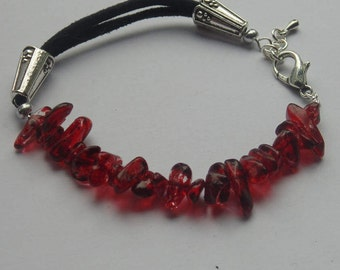 Suede Gemstone Bracelet