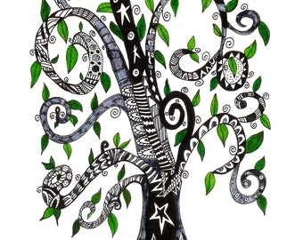 Pen & Ink Tree of Life Print