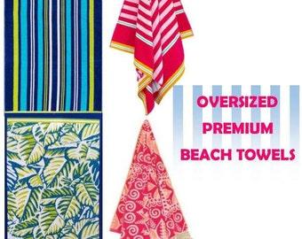 Monogrammed Beach Towel/ Premium Towel/  Jumbo Size