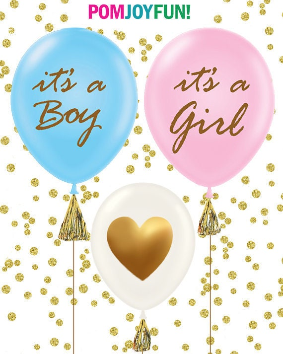 Baby shower balloons set of 3 it 39 s a girl it 39 s a boy for It s a girl dekoration