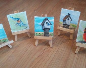 "Custom Mini Painting with Easel, 3"" x 3"""