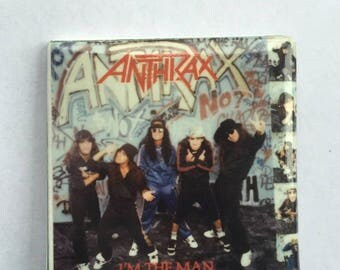 Anthrax Original 1980s Vintage Dead Stock Square Pin