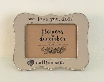 GIFT for dad Father's Day frame Dad gift Grandpa gift Personalized picture frame for dad from child - Flowers in December DS