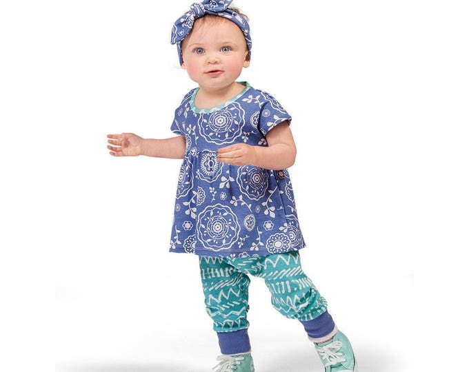 Baby Girl Outfit, Baby Girl Floral Top Leggings, Baby Summer Outfit, Baby Girl Leggings, Summer Baby Girl Top Bottom, TesaBabe TL020BDSI0000