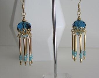 Blue Jellyfish Earrings