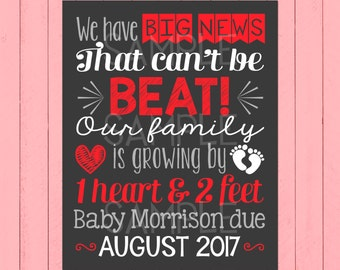 valentines day pregnancy announcement chalkboard valentine our family is growing one heart