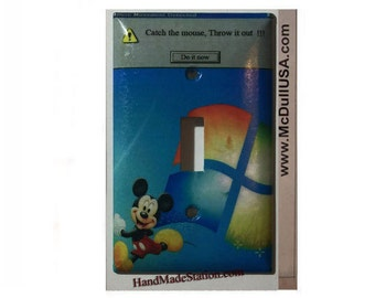 Windows Mickey mouse movement detected Toggle, Rocker Light Switch & Power Duplex Outlet Cover Plate home decor