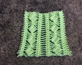 PETITE Boho Wedding Cape Crochet Green Poncho Unique Handmade Shawl Capelet