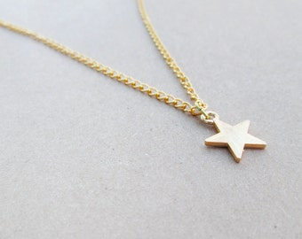 Gold Star Necklace // Boho Layering Necklace // Gypsy Star Jewelry // Star Charm Necklace // Simple Bohemian Charm Necklace