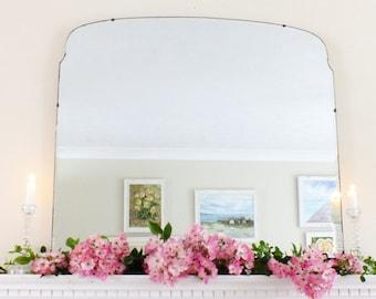Extra Large Vintage Mirror Art Deco Mirror Frameless mirror Feature Wall Mirror  M176