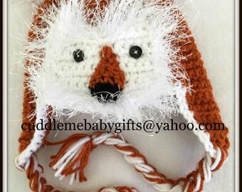 Baby Shower Baby Shower Gift Baby Fox Baby Crochet Baby Photo Prop Baby Hat