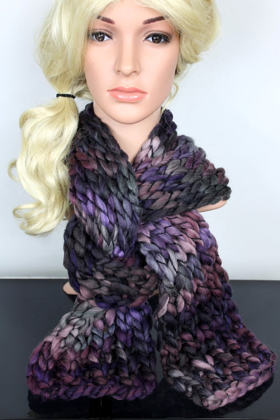 Super Chunky Scarf Chunky Knit Scarf Gift for Her Scarves for Women Womens Winter Scarves Knit Oversized Scarf Unique Large Scarf