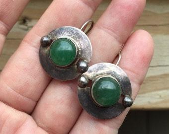 Green Deco Earrings -- 68